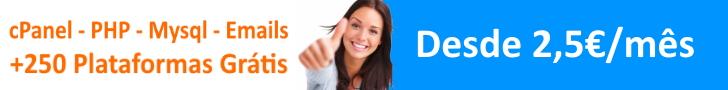+250 Plataformas Grátis com cPanel, PHP, MySQL, Emails e SSL Grátis